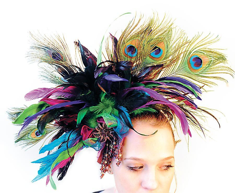 Beckie Wilson's feathered accessories and headpieces_lowres