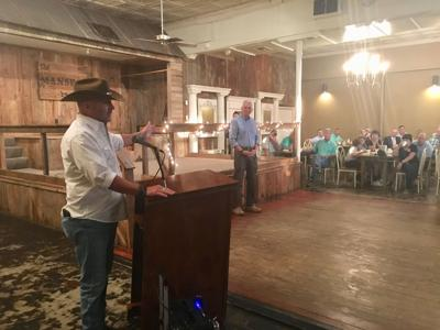 Clay Higgins stumping for Ralph Abraham