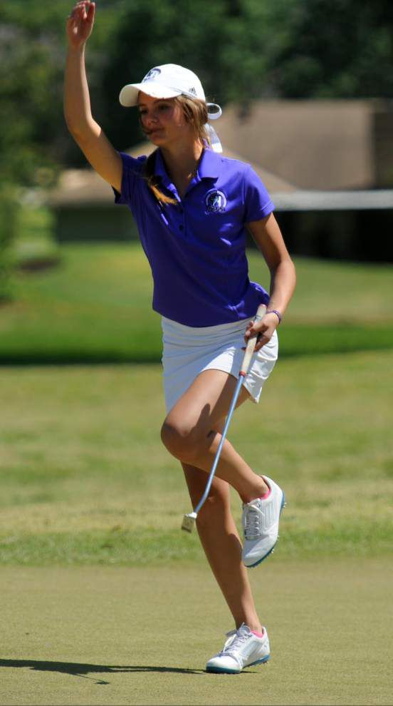 Paige Johnson's putt clinches girls golf title for Zachary _lowres