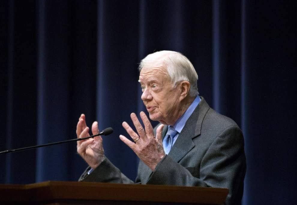 Jimmy Carter writing book on women's rights _lowres