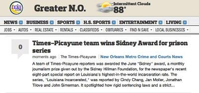 NOLA Media Group trumpets journalism award for prison series one day after firing majority of people who worked on it_lowres