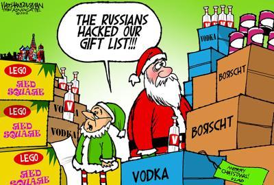 Walt Handelsman: Hacking Santa