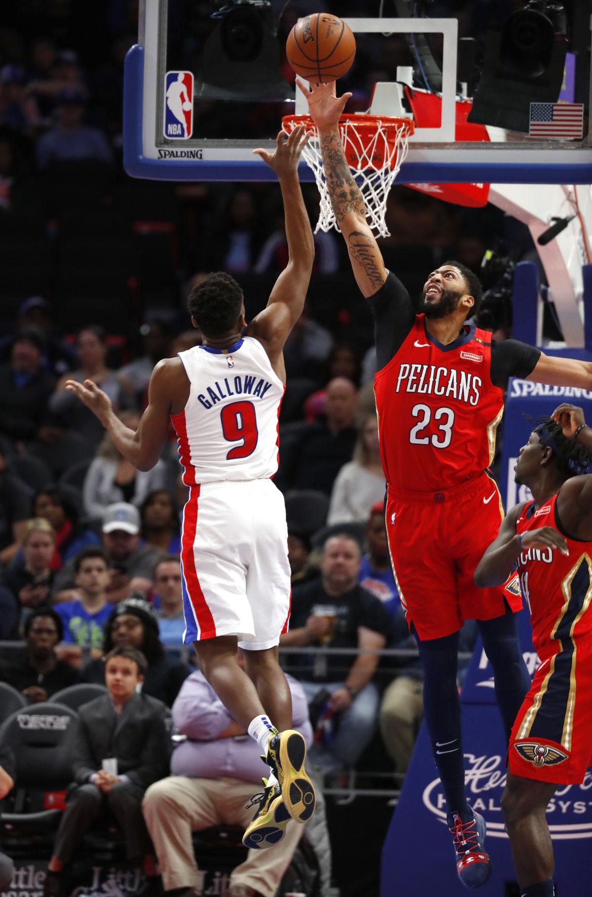 Pelicans Pistons Basketball