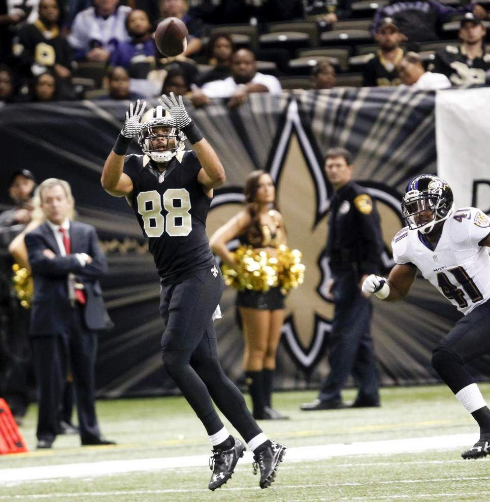 New Orleans Saints receivers Joe Morgan and Nick Toon both played — but they didn't trade spots _lowres