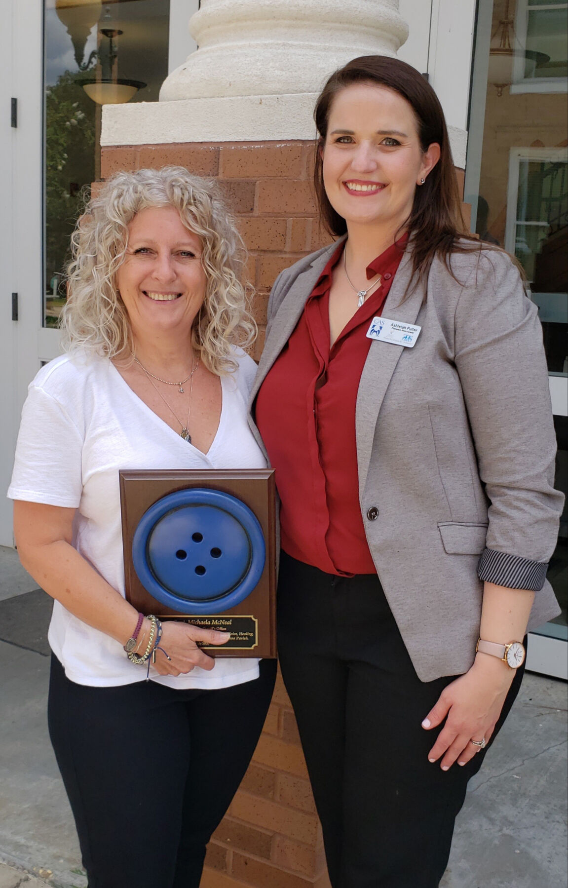 WFPSO Michaela McNeal with thea CAC's Ashleigh Fuller..jpg