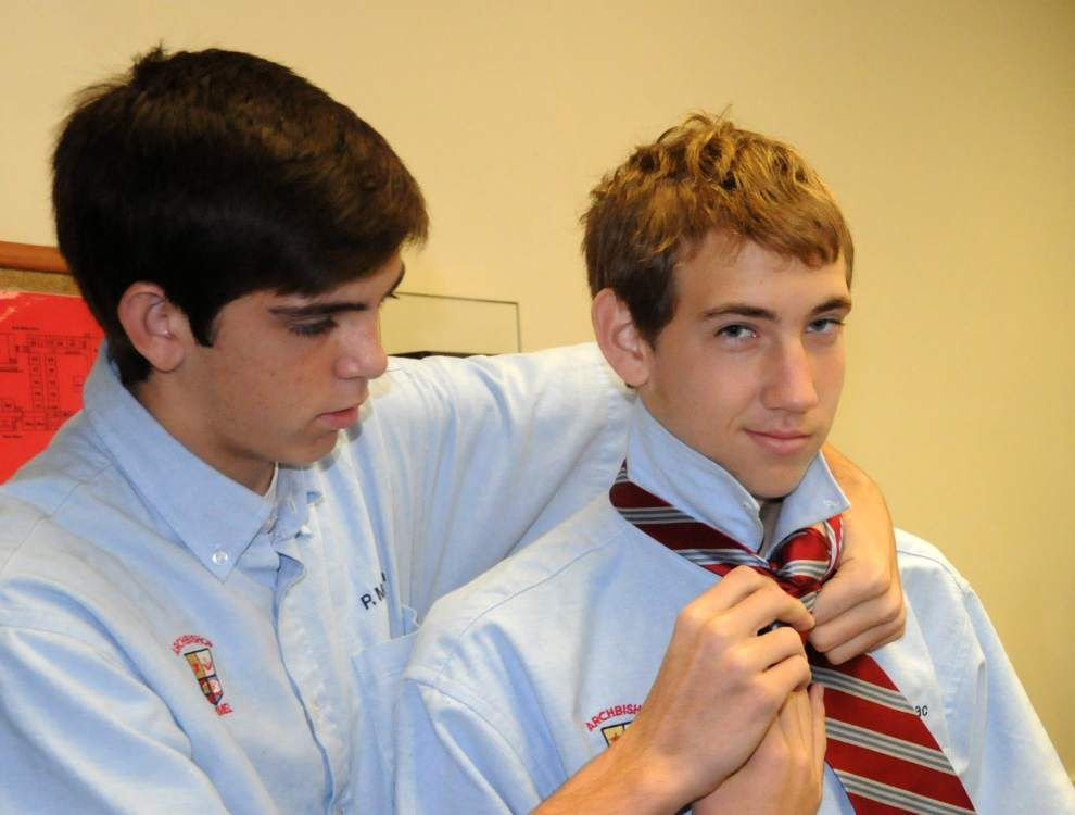Knot a typical homeroom at Archbishop Rummel High School in Metairie _lowres
