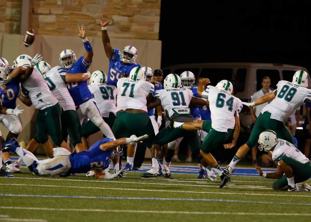 Struggles continue for Tulane kickers _lowres