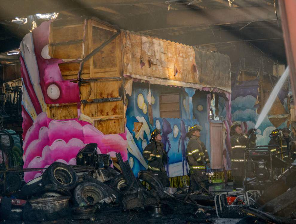 Fire at Carnival float builder's warehouse in Kenner early Tuesday called suspicious _lowres