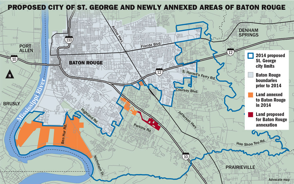 Here S How Expanding Baton Rouge S City Limits Could Spell Trouble For The St George Fire Department News Theadvocate Com