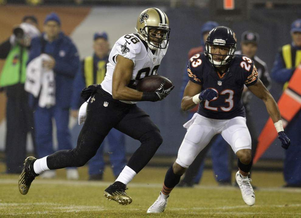 Photos: Jimmy Graham leaps, New Orleans Saints celebrate big win vs. Chicago Bears _lowres