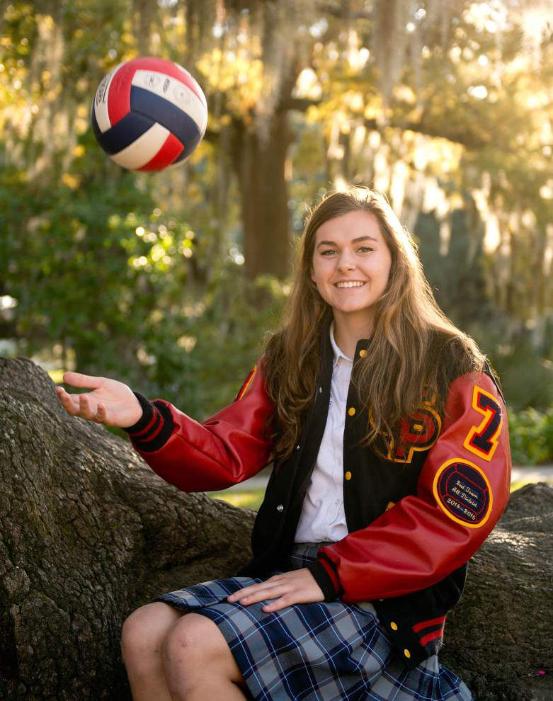 Kristen Nuss of Mount Carmel and Camille Dedeaux of Pope John Paul top The New Orleans Advocate's all-metro volleyball teams _lowres