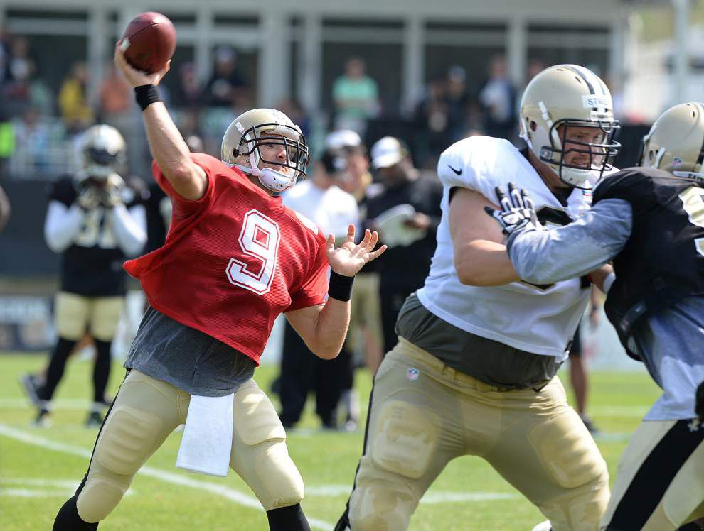 Saints patchwork offensive line pleased with effort, ground game vs. Rams _lowres