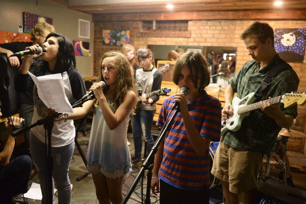Kids keep cool by playing in a band at Young Band Nation _lowres