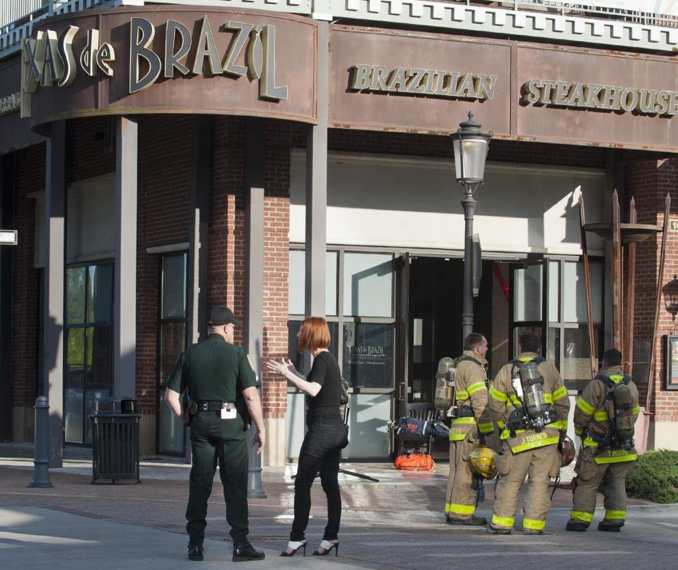 Firefighters responding to reports of smoke at Texas De Brazil in Perkins Rowe _lowres