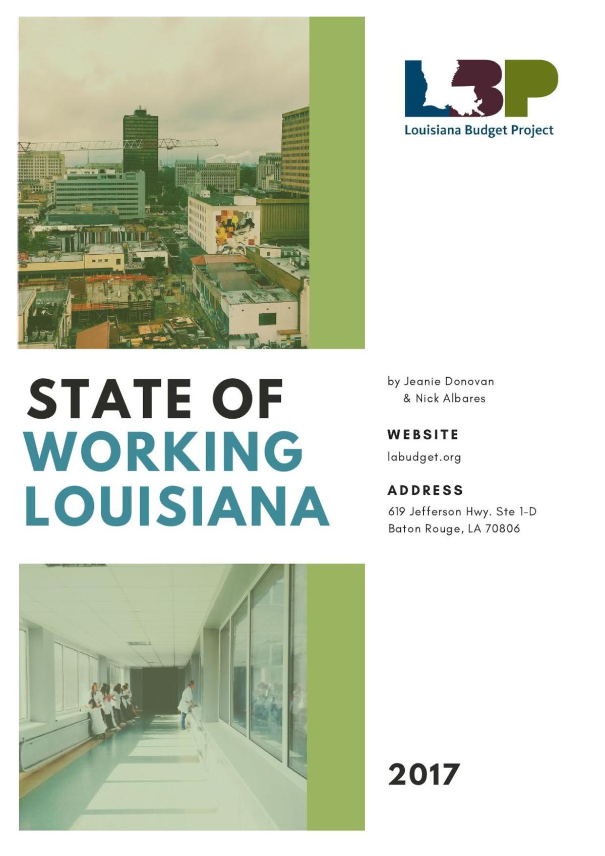 Louisiana Budget Project Jobs Report Sept. 7, 2017