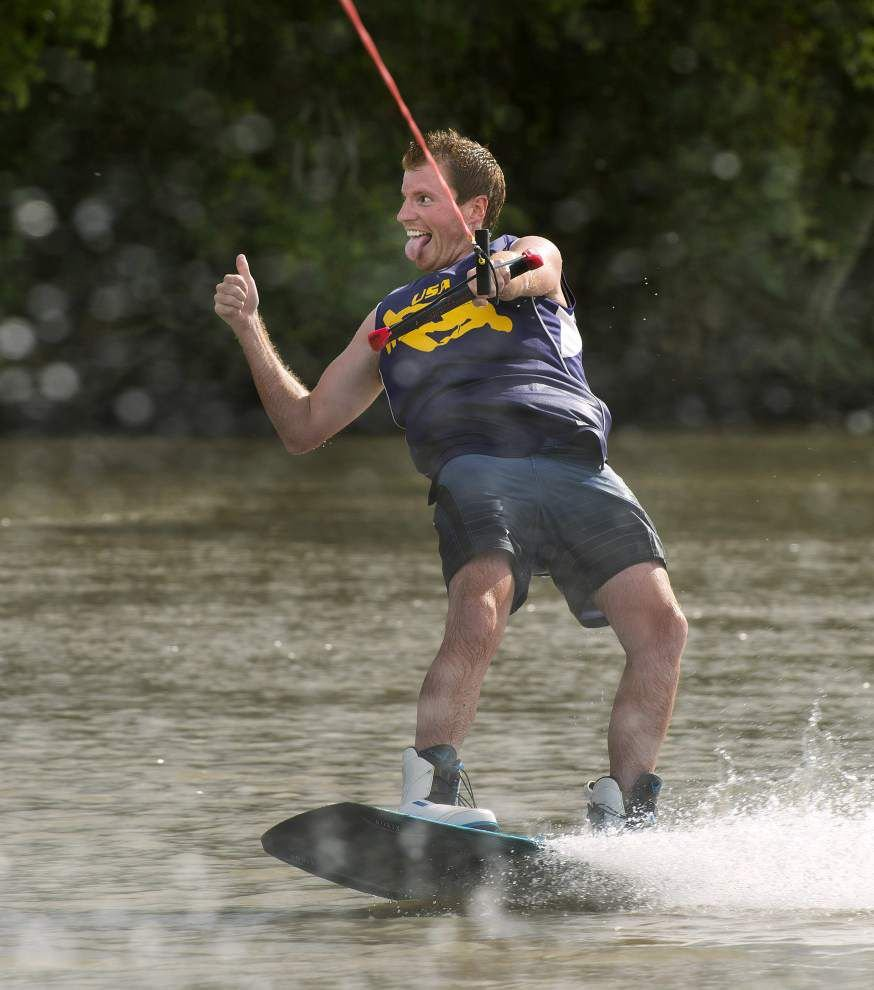 Photos: Big waves, fancy tricks, high fives: LSU's wakeboarding team shows off _lowres