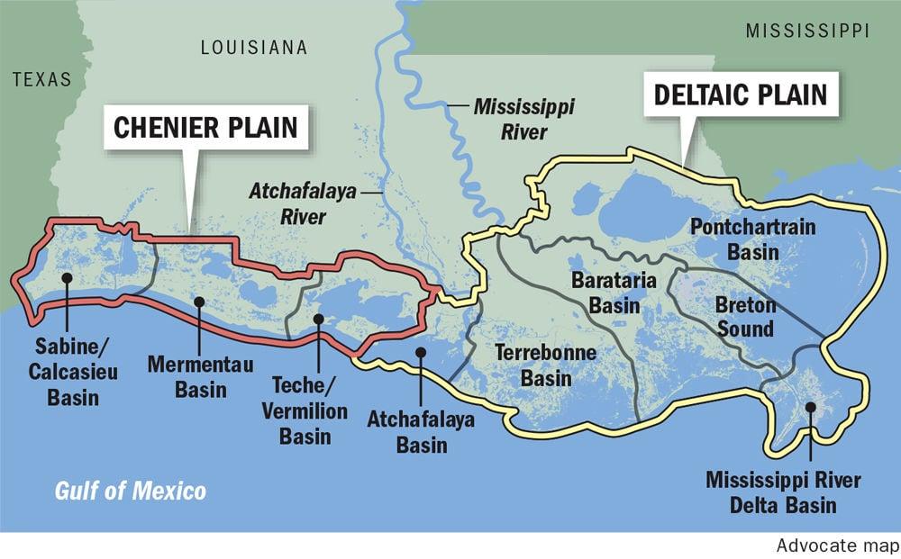 Louisianas Coastal Future Very Grim The Further West You Go - Louisiana sea level map