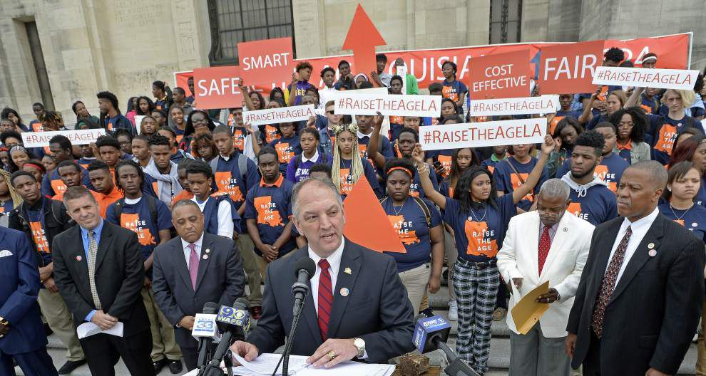 Louisiana Gov. John Bel Edwards supports raising the age for criminal prosecutions _lowres
