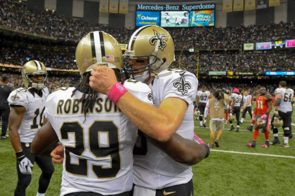 Khiry Robinson probable for Sunday's game against Panthers _lowres