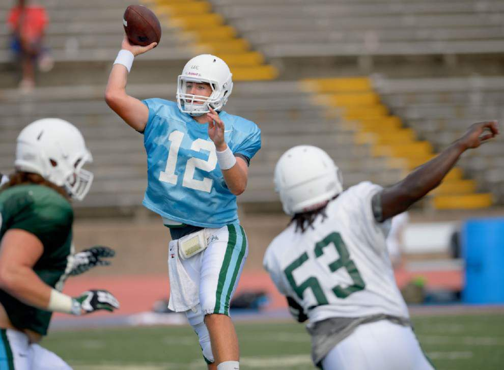 Tanner Lee makes strong case to be Tulane's starting QB _lowres