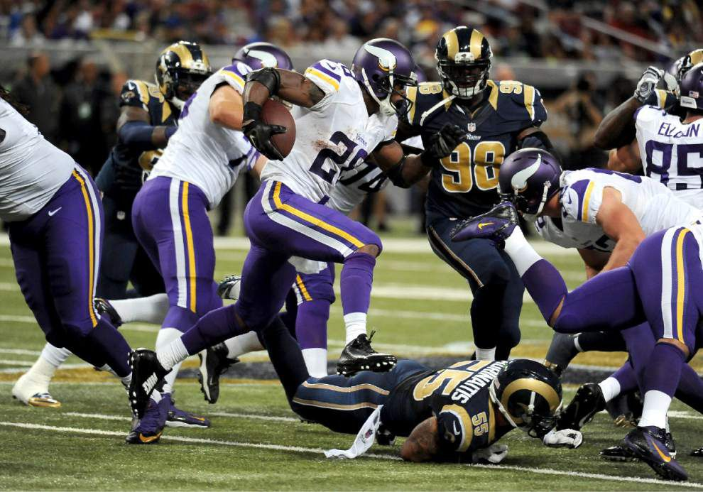 Even with Adrian Peterson out, Saints still focused on stopping Vikings' run _lowres