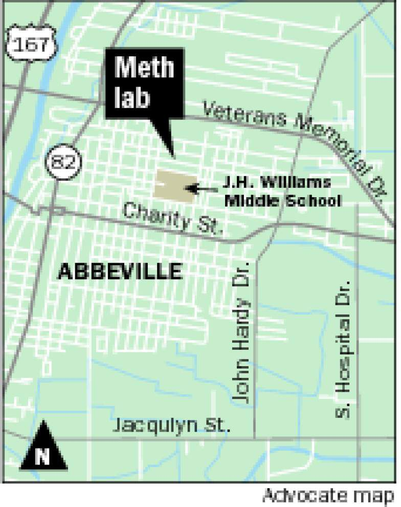Agents investigating tip of meth lab in Abbeville find 2 babies in chemical-permeated home near a middle school _lowres