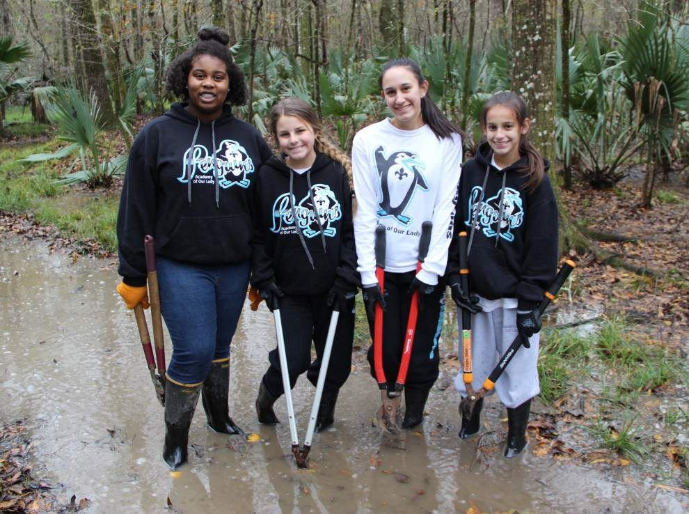 Academy of Our Lady serves community during week of service _lowres
