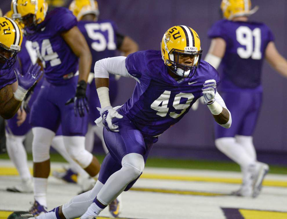 Pick 6: DE Arden Key expects TDs in standup hybrid role in LSU's new defense _lowres