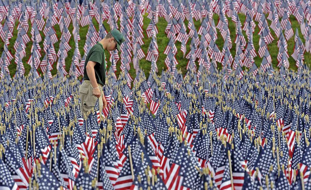 Photos, video: 11,000 flags planted downtown to commemorate Louisiana's war fallen _lowres