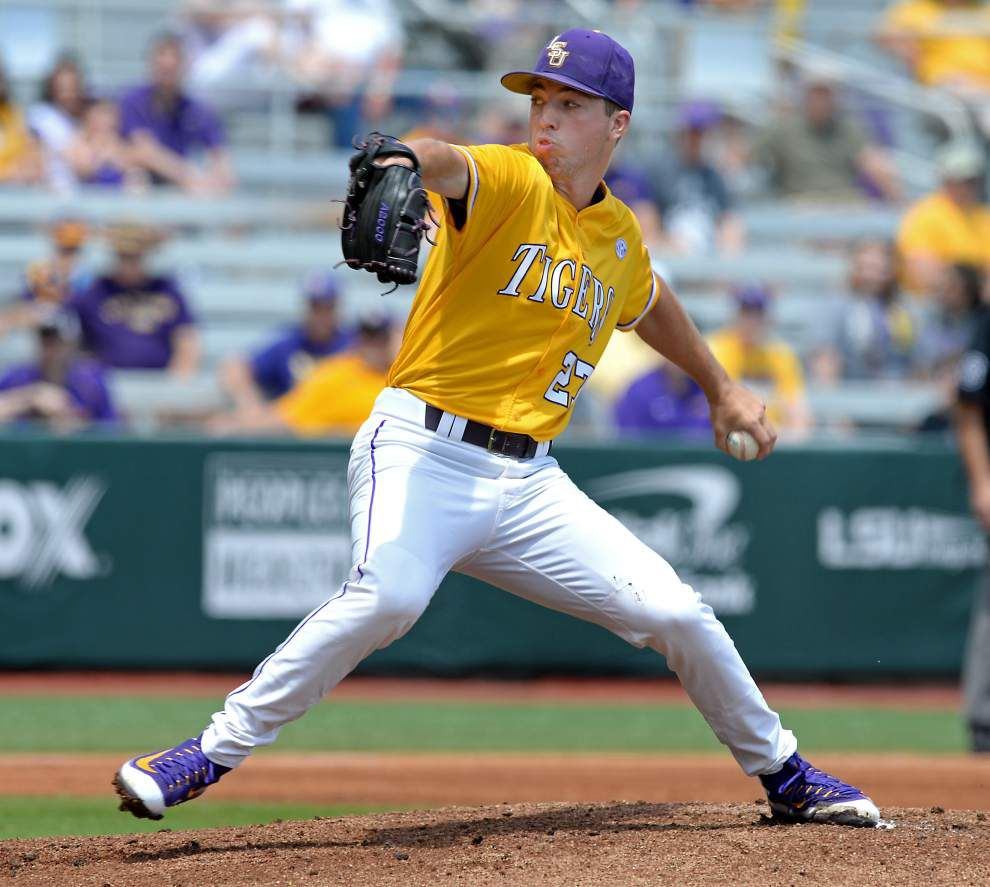 After two 'unacceptable' starts, LSU pitcher John Valek III focused on finding his command _lowres