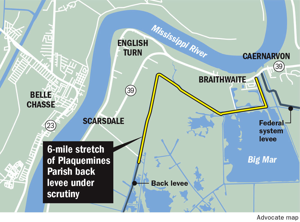 Fate of 40 million Plaquemines levee project
