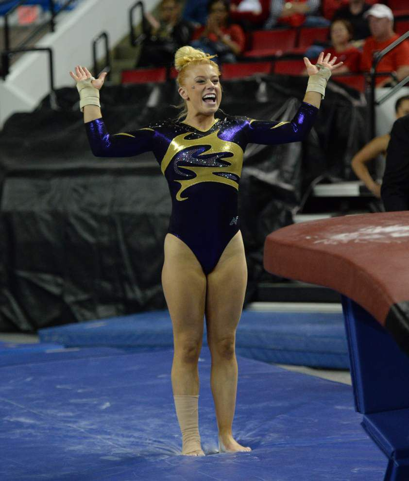 LSU gymnastics team claims 4th straight regional title, spot at NCAA championships for 5th straight year _lowres