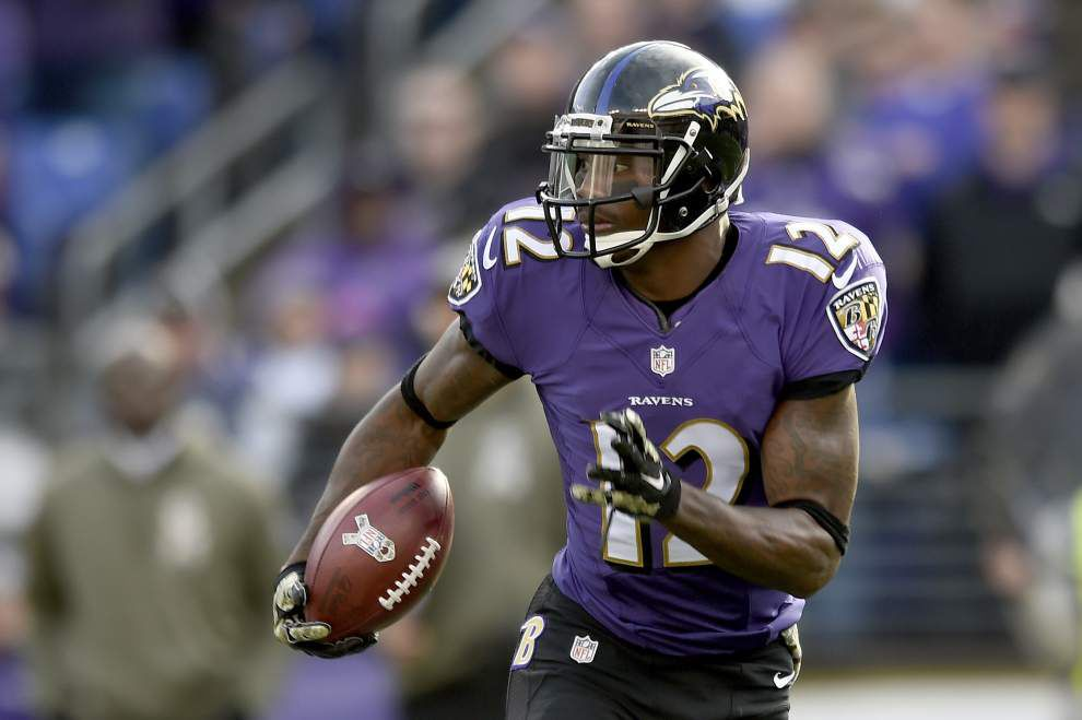 Back in his hometown, Ravens return specialist Jacoby Jones has the Saints' attention _lowres
