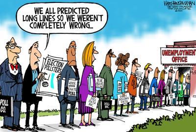 Walt Handelsman: 2020 Election Pollsters