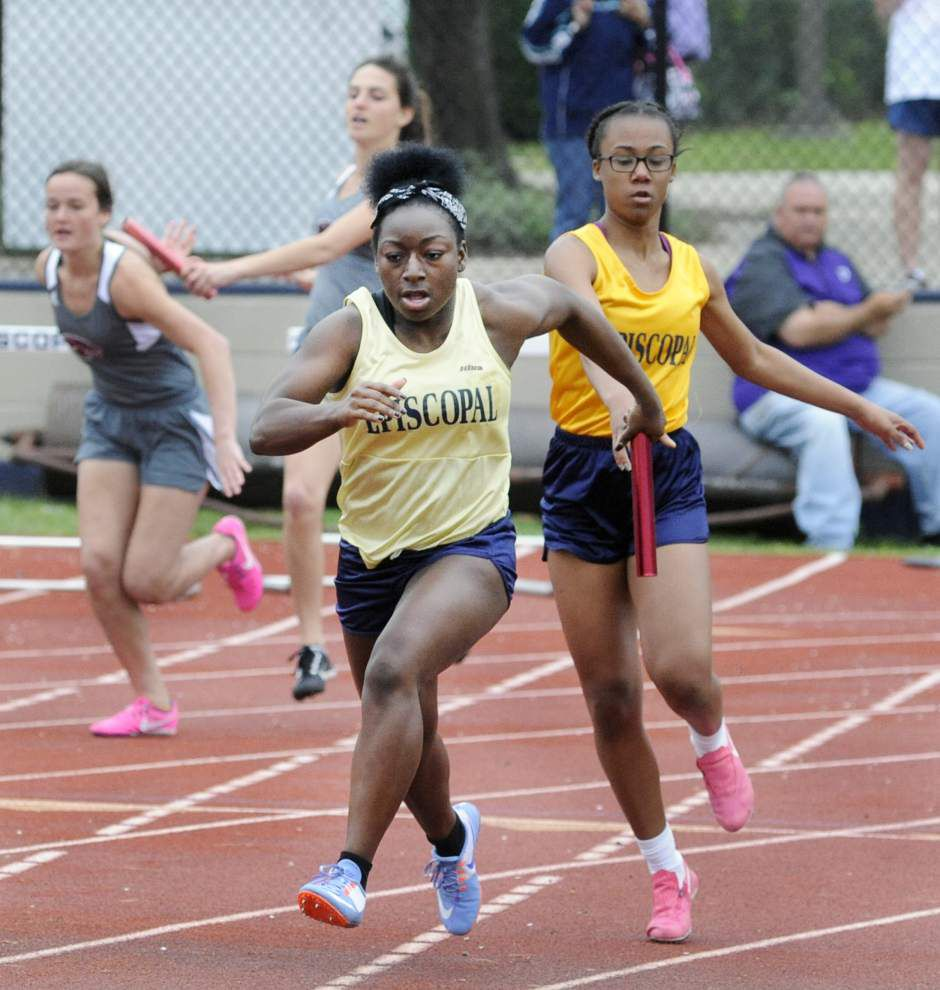 Episcopal sweeps boys, girls relays, tallies four double winners _lowres
