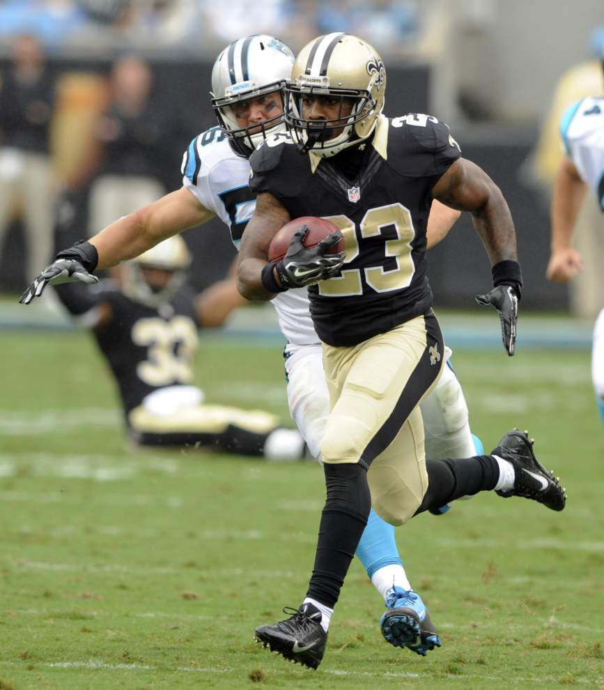 Marcus Murphy makes up for miscue with Saints' first punt return for a touchdown since 2011 _lowres