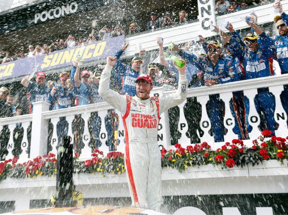 Dale Earnhardt Jr. wins at Pocono _lowres