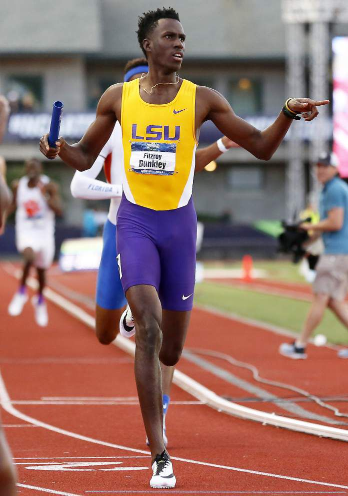 Injury to Nethaneel Mitchell-Blake proves costly as LSU track and field team claims 5th at NCAA championships _lowres