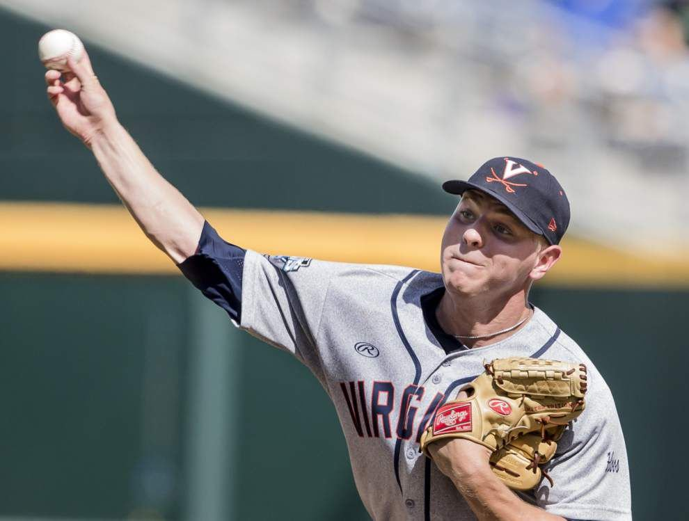 Artie Lewicki becomes Virginia bullpen ace at CWS _lowres