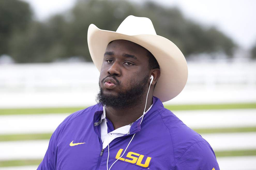 Cowboy hats and rodeo games, LSU Tigers get into Texas spirit during pre-bowl game rodeo _lowres