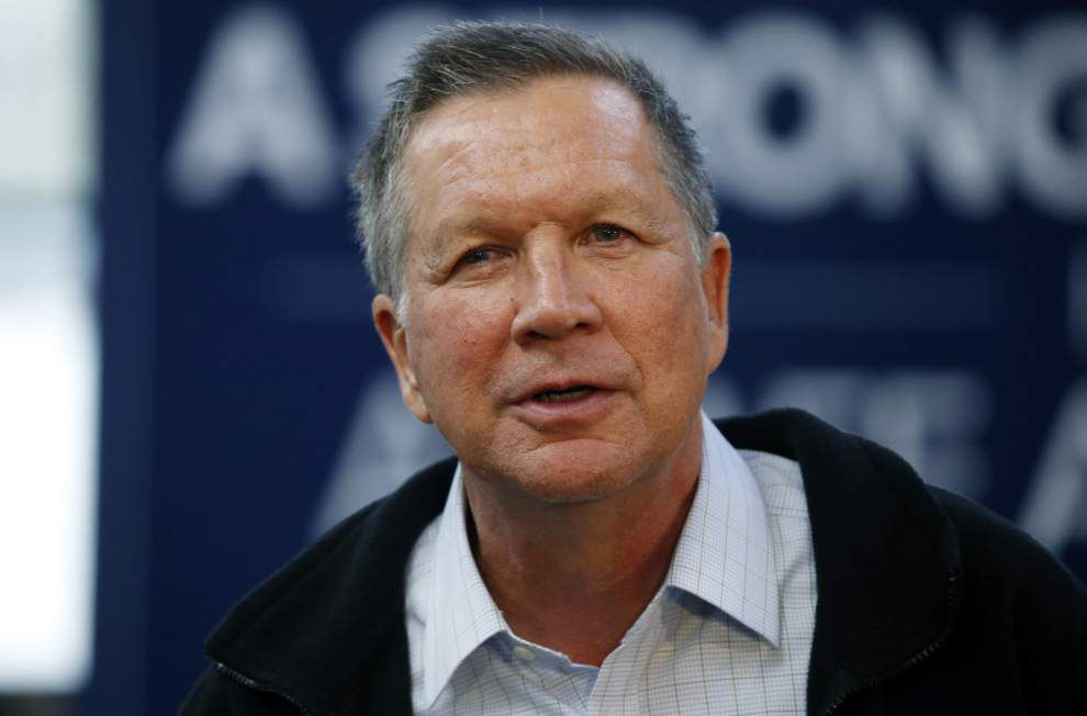Presidential candidate John Kasich stumps for votes in Metairie before small crowd _lowres