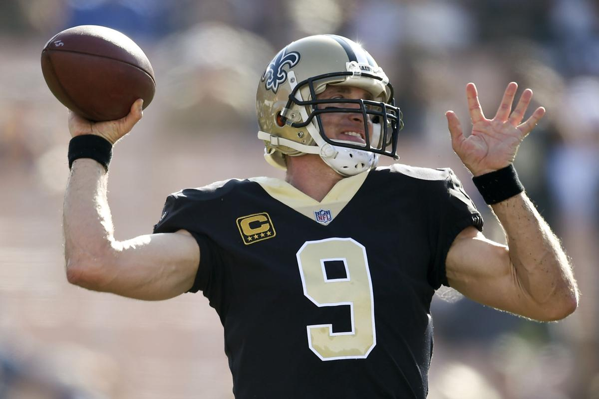 Saints Rams Football New Orleans Saints Quarterback Drew Brees