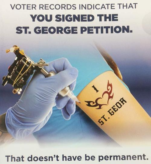 St. George Spokesman: Mailer Encouraging Petition Signers To