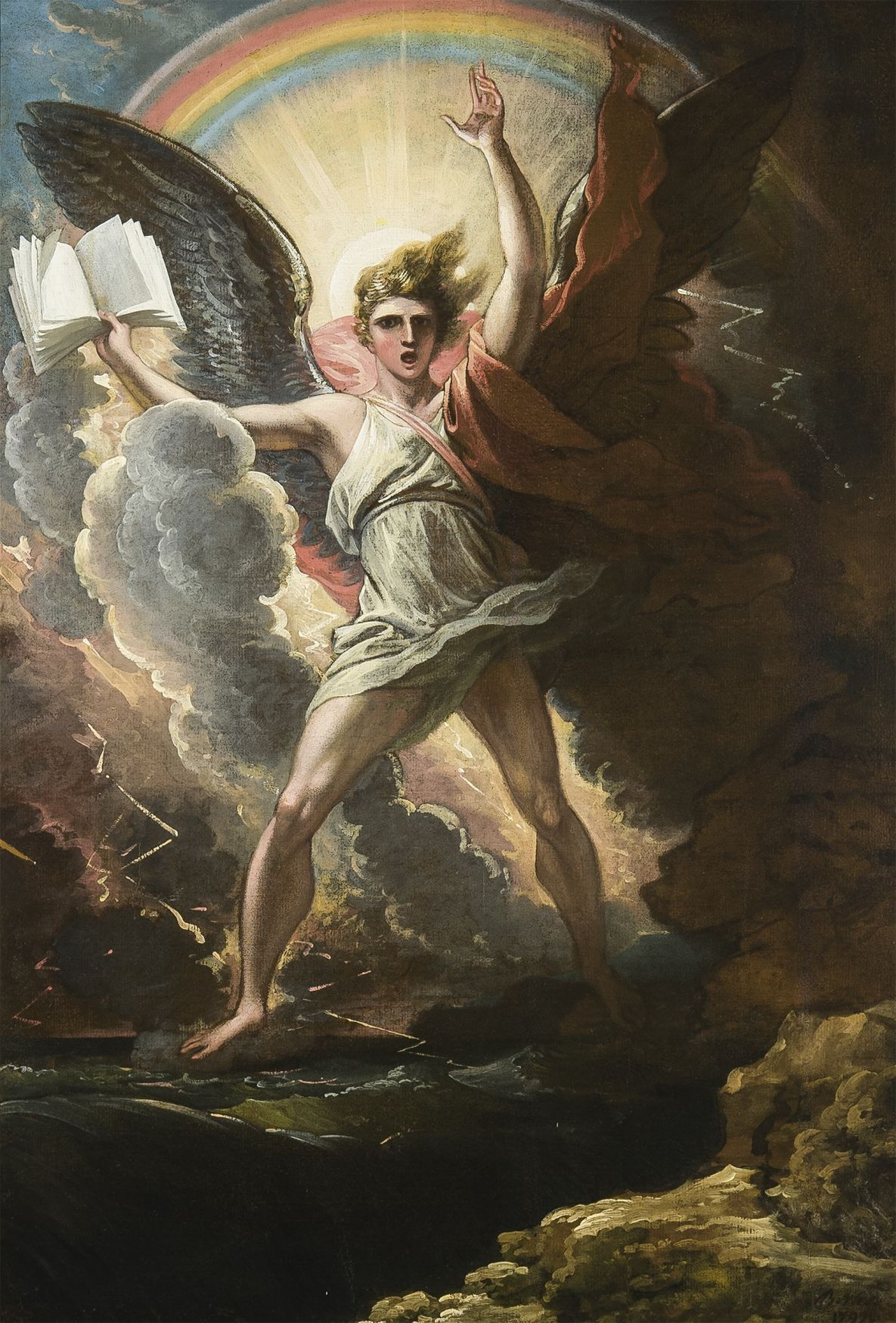 A Mighty Angel Standeth by Benjamin West.jpg