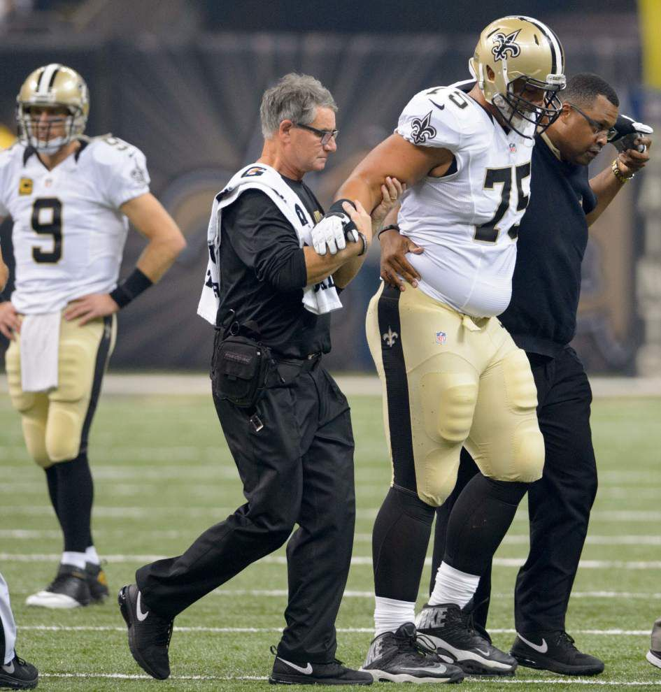 Report: Saints offensive tackle Andrus Peat suffered MCL sprain, will miss 4 weeks _lowres
