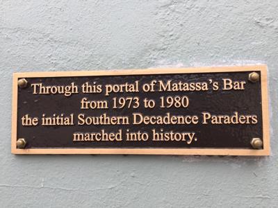 Matassas bar plaque