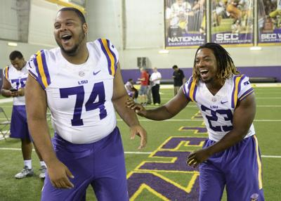 Video: LSU offensive tackle Vidal Alexander says focus on technique powered the line against Warhawks _lowres