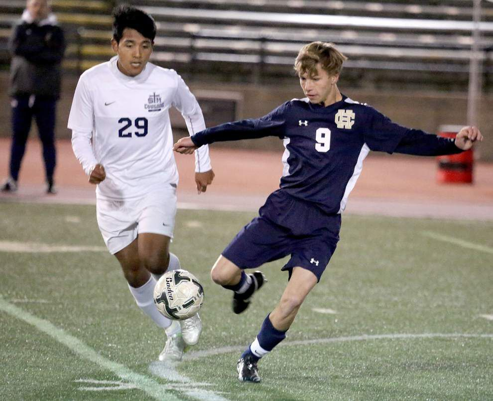 St. Thomas More blanks Holy Cross 1-0 for Division II boys soccer state title _lowres