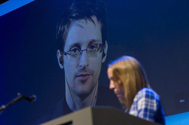 Edward Snowden in conversation with Ron Suskind at Tulane Jan. 29_lowres