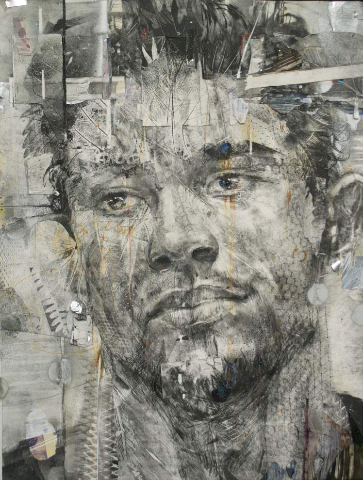 'Head Games;' Keith Perelli's collage paintings take over Contemporain Gallery _lowres